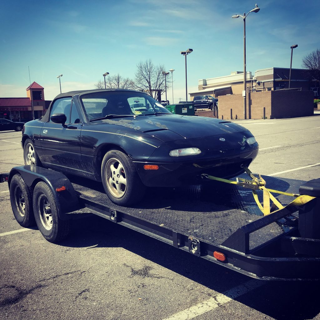 Miata on Trailer